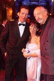 Henry Maske mit Gattin Manuela und Karl Dall