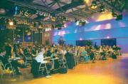 200 fleißige Journalisten in der Gerolsteiner Presselounge