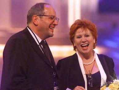 SAT.1 Pressechef Dieter Zurstrassen und Richterin Barbara Salesch