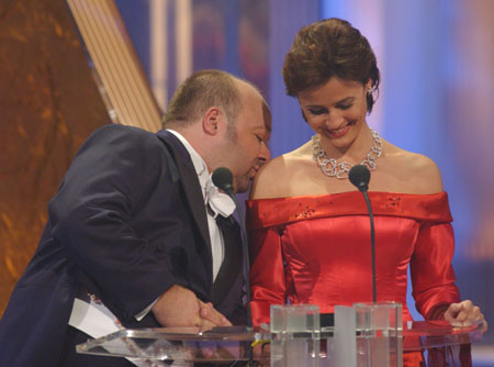 Die Gastgeber der Gala Dirk Bach und Sandra Maischberger