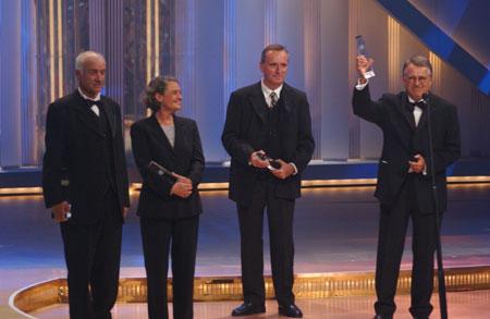 Armin Mueller-Stahl, Monica Bleibtreu, Horst Königsstein und Heinrich Breloer (von links)
