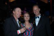 Otto Waalkes (li.) mit Ehefrau Eva Hassmann und Tom Gerhardt