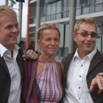 Martin Semmelrogge mit Gattin Sonja und Sohn Dustin (v.r.)