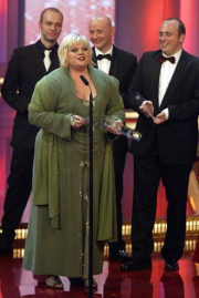 Tine Wittler mit ihrem Einsatz in 4 Wänden-Fernsehpreis