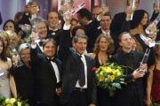 Abschlußfoto mit allen Preisträgern und Laudatoren