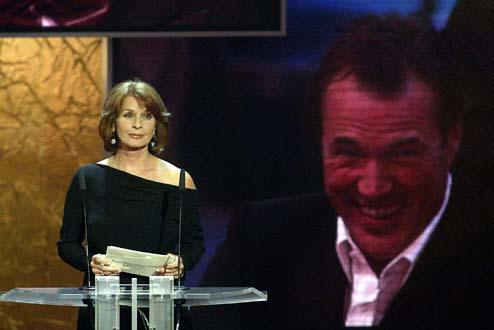 Senta Berger hält die Laudatio für Bester Schauspieler Fernsehfilm