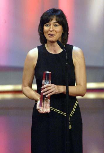 Maybrit Illner bedankt sich für ihren Fernsehpreis