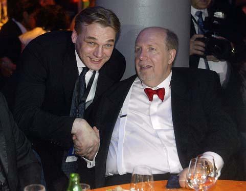 Rainer Calmund und Fernsehpreis-Caterer Michael Stern