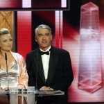 Laudatoren für Beste Schauspieler Serie: Tina Ruland und Christoph M. Ohrt