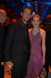 Yvonne Catterfeld und Wayne Carpendale beim Sektempfang