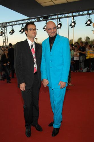 Moderator Ralph Morgenstern mit Freund