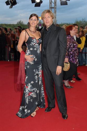 Sportmoderator Michael Steinbrecher mit Natascha Berg
