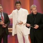 Beste Sportsendung 2006: ZDF-Sportchef Dieter Gruschwitz, Urs Meier und Johannes B. Kerner (v. li.)