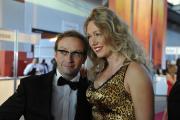 Jury-Mitglied Wigald Boning mit Ehefrau