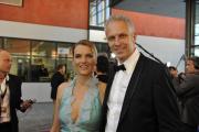 Marietta Slomka und Christof Lang