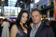 Hinnerk Schönemann, nominiert als Bester Schauspieler, mit Sarah Hartung