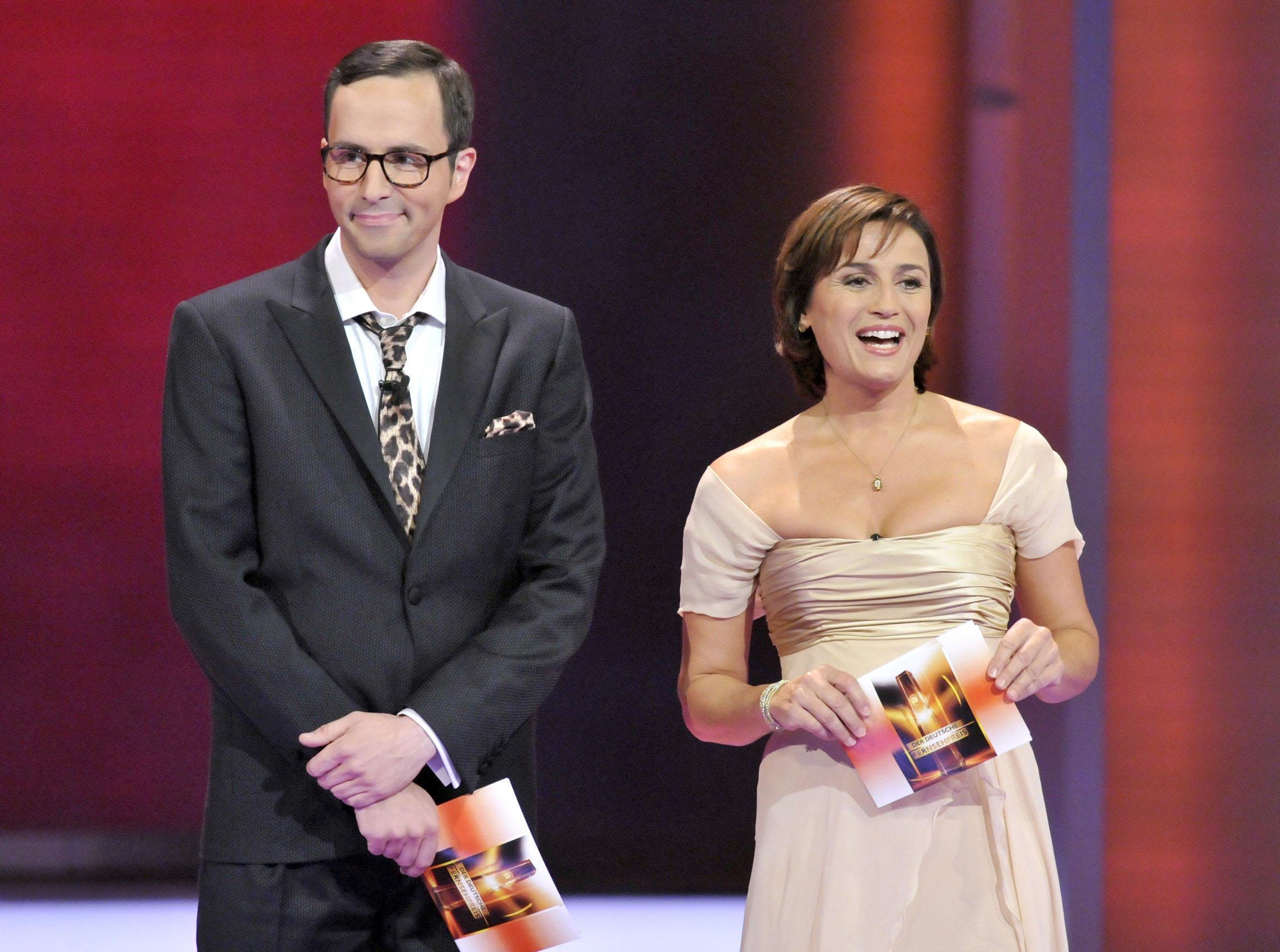 Die Moderatoren des 12. Fernsehpreises: Sandra Maischberger und Kurt Krömer