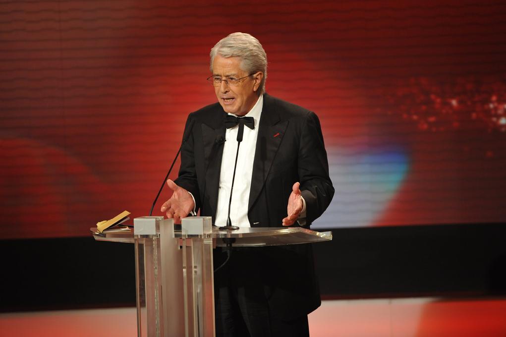 Frank Elstner hielt die Laudatio auf den Ehrenpreisträger Joachim Fuchsberger