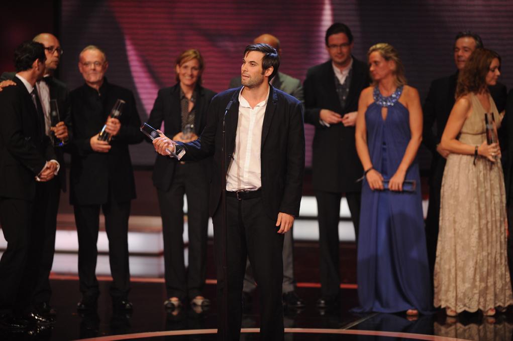 Das Team der Hindenburg bedankt sich für den Preis in der Kategorie Bester Mehrteiler