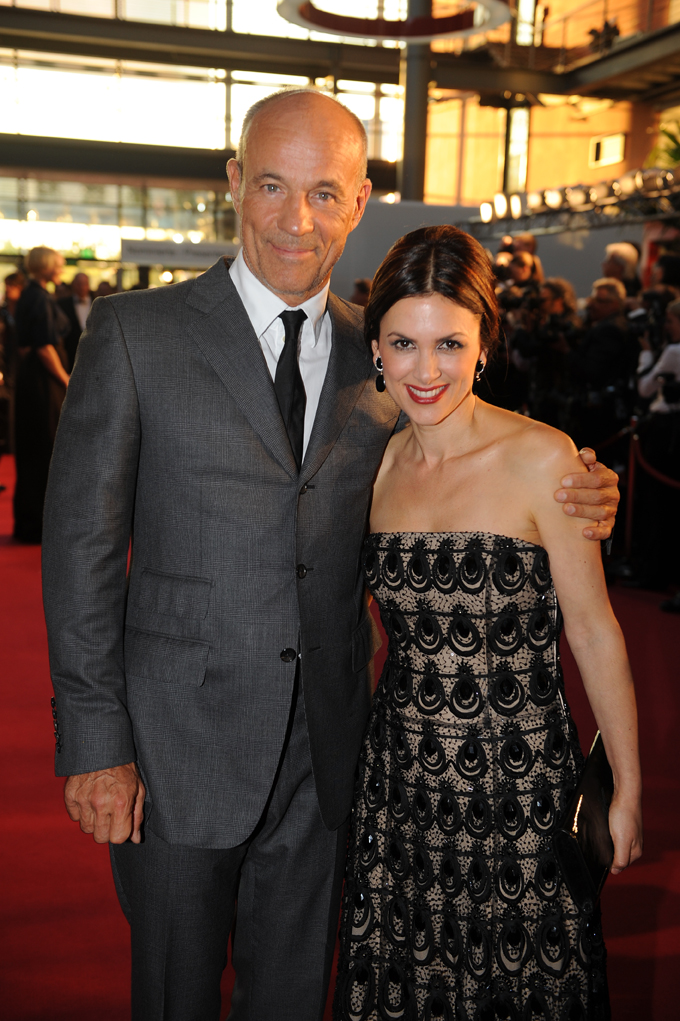 Schauspieler Heiner Lauterbach mit seiner Ehefrau Viktoria