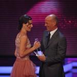 Luadator Heiner Lauterbach übergibt den Preis an Nina Kunzendorf, Beste Schauspielerin