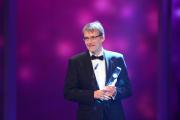 Elmar Theveßen, Autor von Nine Eleven, bedankt sich für die Auszeichnung in der Kategorie Beste Dokumentation