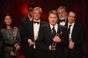 Udo Jürgens bedankt sich im Namen des Teams von Der Mann mit dem Fagott in der Kategorie Bester Mehrteiler