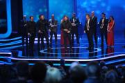 """Rea Garvey nimmt den Preis in der Kategorie """"Beste Unterhaltung-Show"""" für THE VOICE OF GERMANY entgegen."""