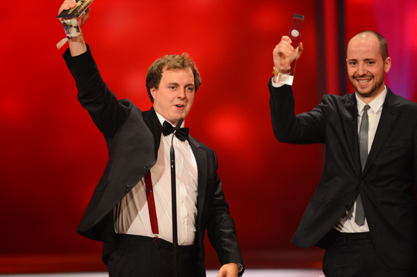 Große Freude bei den diesejährigen Förderpreis-Gewinnern Philipp Kaessbohrer und Matthias Schulz