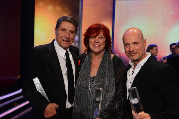 Udo Jürgens, Produzentin Regina Ziegler und Christian Berkel