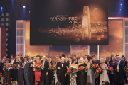 Die Preisträger 2014 auf der Bühne