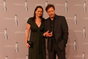 Hendrik Duryn mit Produzentin Astrid Quentell
