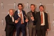 """""""Beste Comedy / Kabarett"""" für """"Die Anstalt"""": Stephan Denzer (ZDF), Claus von Wagner, Max Uthoff, Dr. Dietrich Krauß"""