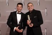 """Stefan Gödde (l) und Aiman Abdallah in der Kategorie """"Bestes Infotainment"""" für Galileo"""