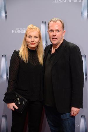 Nadja Uhl mit ihrem Mann